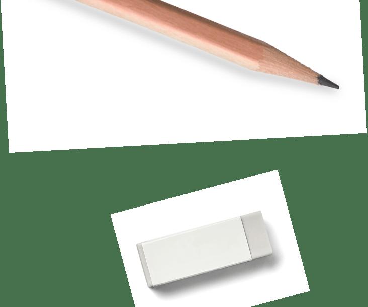 鉛筆と消しゴムの背景画像